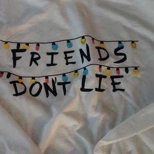 NWT Friends Don't Lie crop hoodie